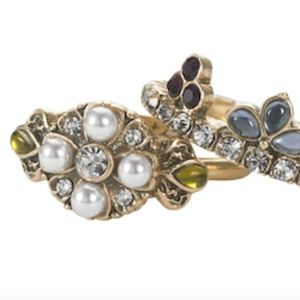 2 Chloe & Isabel Royal Thistle Stackable Rings NWT